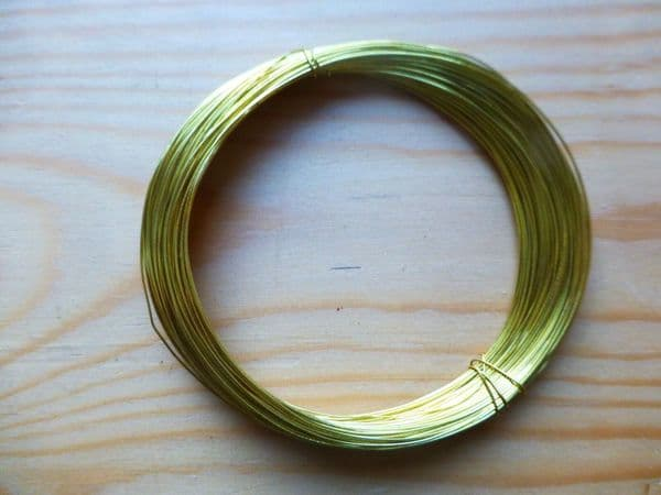 BRASS BOW WIRE FOR VIOLIN/CELLO, CRAFT/JEWELRY, APRX 20 METERS, NICE QUALITY